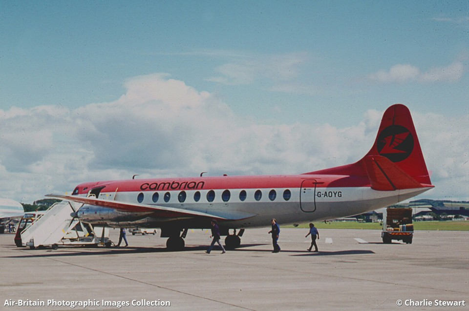 Aviation Photographs Of Operator Cambrian Airways Cs Abpic