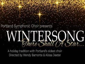 Portland Symphonic Choir Wintersong banner