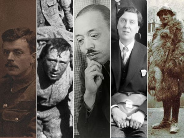 5 vintage photos of composers in the military