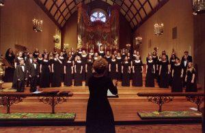 Mia Hall Miller directing choir