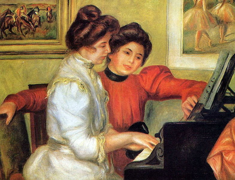 """Yvonne and Christine Lerolle at the Piano"" by Pierre-Auguste Renoir"