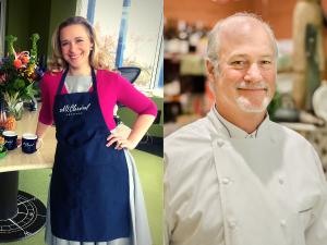 Suzanne Nance and Chef Scott Weaver