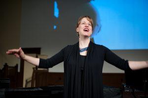 Katherine FitzGibbon singing