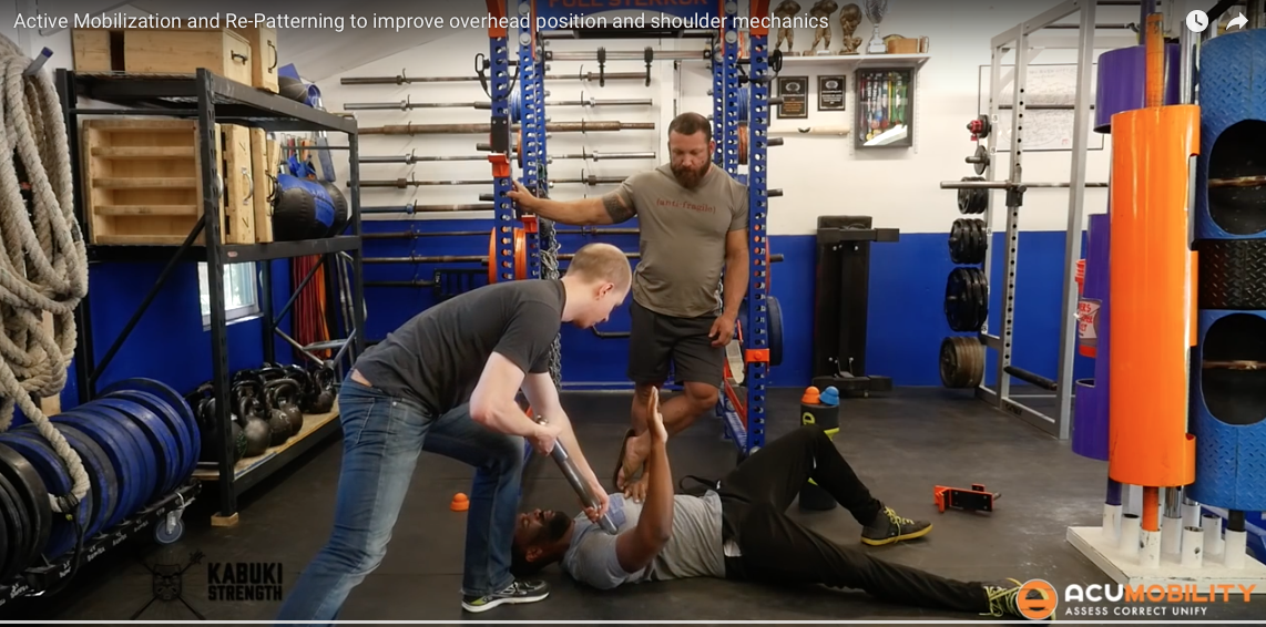 Active Mobilization and Re-Patterning To Improve Overhead Position and Shoulder Mechanics