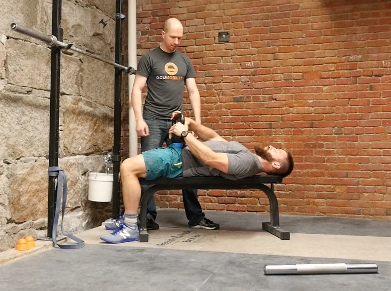 Bench Psoas Release Leg down