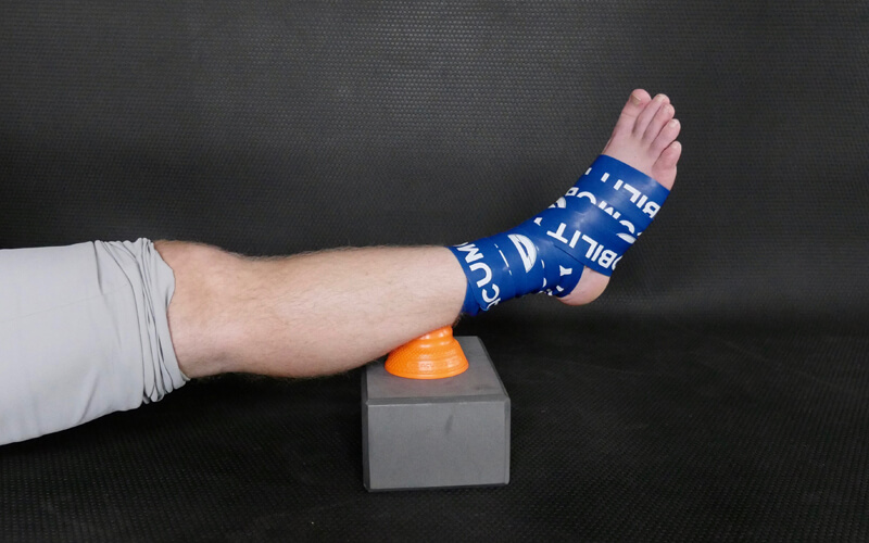 acumobility floss band level 2 blue ankle