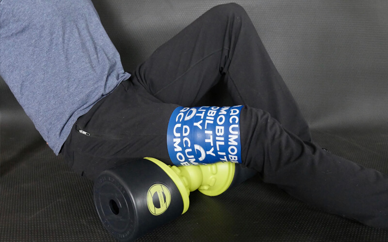 acumobility floss band level 2 blue with eclipse roller