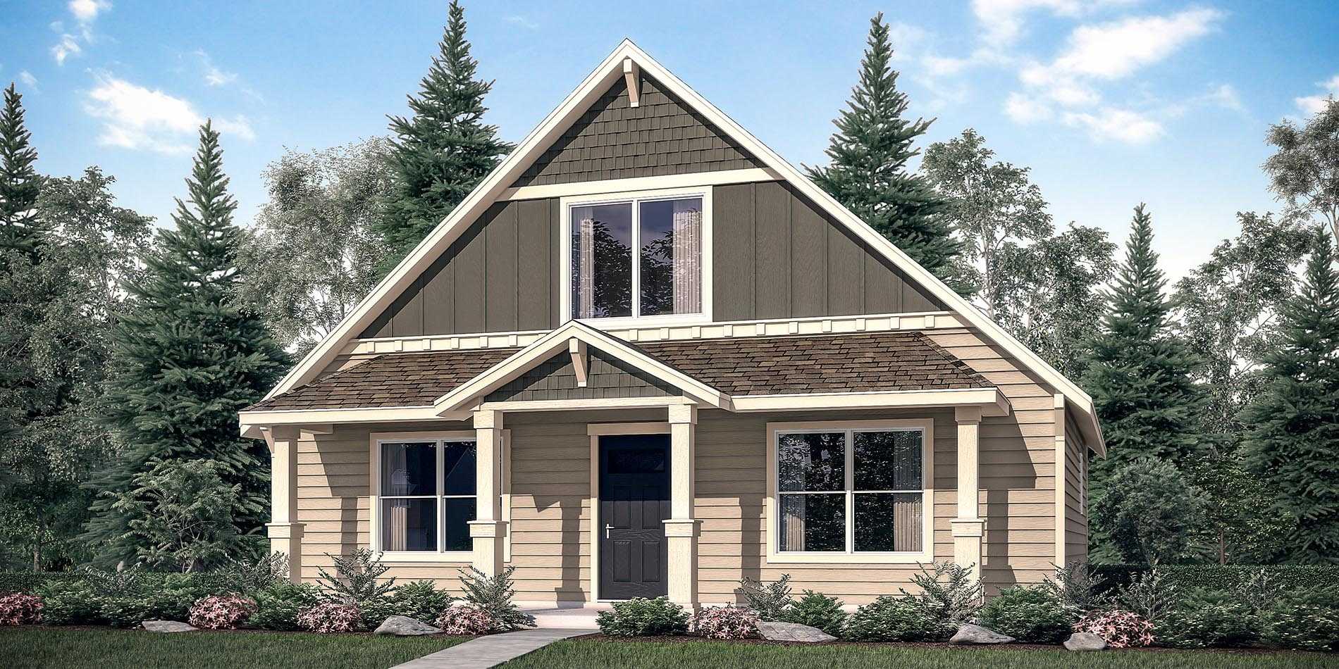The rhododendron custom floor plan adair homes for Adair home plans