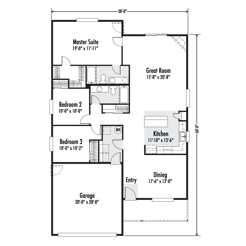 The whidbey custom floor plan adair homes for Whidbey house plan