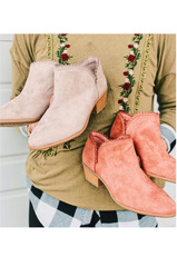 Lace Trim Detailed Booties