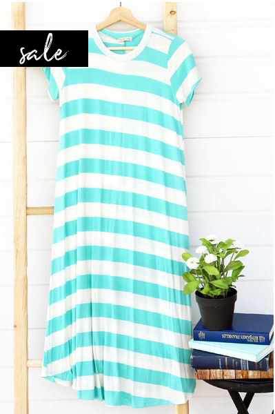 Tilli Tee Dress - Sea Breeze