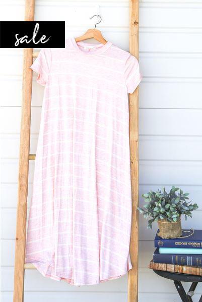 Stripe Swing Dress - Pink