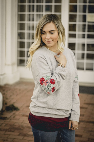Marley Embroidered Pullover