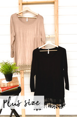 Fringe Trim Tunic