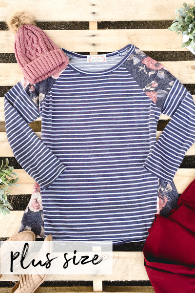 Stripe & Floral Top