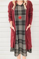 Berry Maxi Knit Cardi