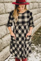 Whimsy Buffalo Plaid Dress