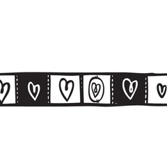 Heart Squares Washi Tape