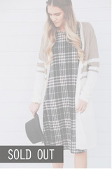 Houndstooth Midi - Black
