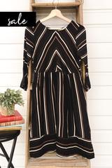 Lux Stripe Midi Dress