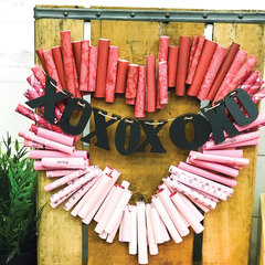 Heart Paper Rolled Wreath