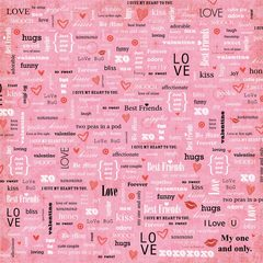 Love Fest Words Scrapbook Paper
