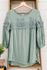 Haven Lace Blouse - Green