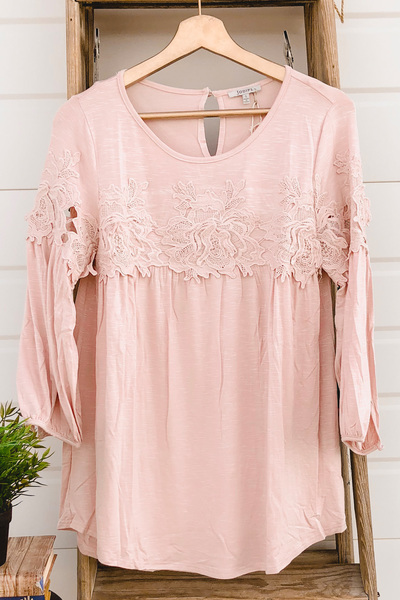 Haven Lace Blouse - Pink