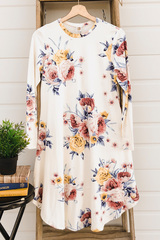 Janey Floral Midi - White