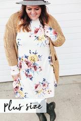 Janey Floral Midi - White