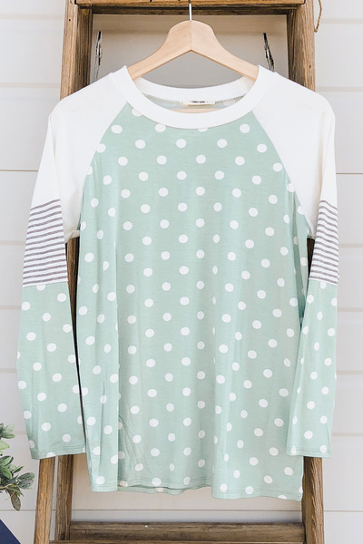 Lots of Dots Tee - Green