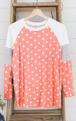 Lots Of Dots Tee - Peach