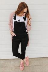 Black Oxford Overalls