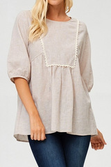 Isla Linen Blouse - Cream