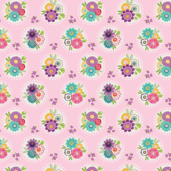 Bouquet Polka Fabric