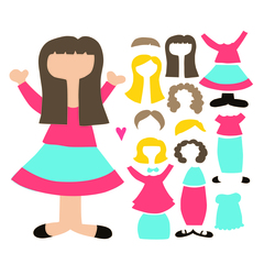 SVG Paper Doll Set 1