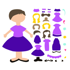 SVG Paper Doll Set 2