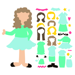 SVG Paper Doll Set 3