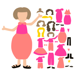 SVG Paper Doll Set 4