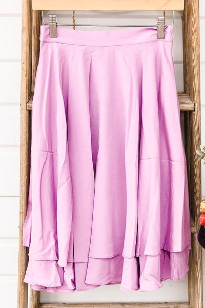 Double Ruffle Skirt - Lilac
