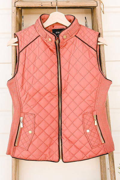 Blush Quilted Vest