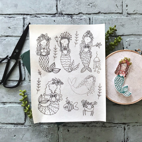 Mermaid Friends Embroidery