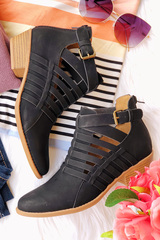 Black Ivy Strap Booties