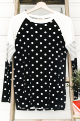 Black Lots of Dots Tee