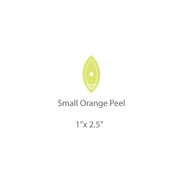 Small Orange Peel Template