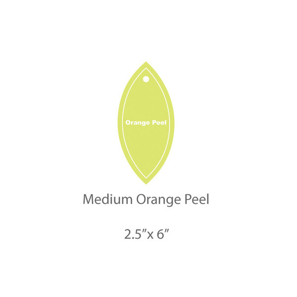 Medium Orange Peel Template