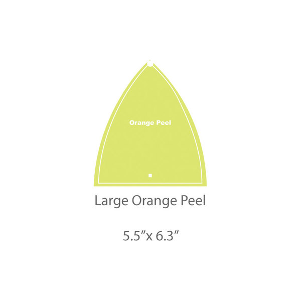 Large Orange Peel Template