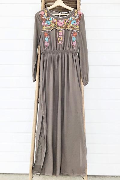 Boho Mocha Dress