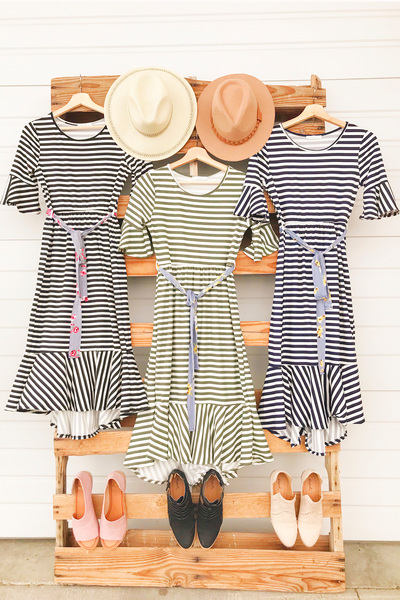 2 Stripe Dresses=1 Great Price