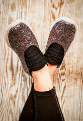 Black Sparkle Sneaks